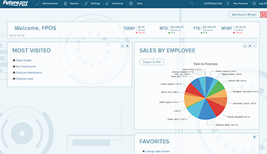 Future POS Dashboard landing page
